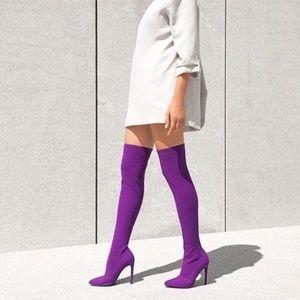 Purple High high boots